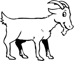 Goat Is Smiling Coloring Pages