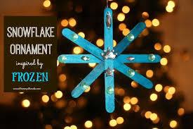 Frozen Inspired Snowflake Ornament Kids Craft