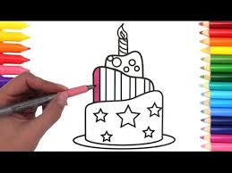 How To Draw And Paint A Cake