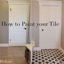 Sealing Asbestos Floor Tiles With Epoxy by Best 25 Painted Floor Tiles Ideas On Pinterest Painting Tiles