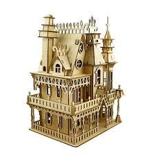 NEW DIY Victorian Fantasy Villa Dolls House Wooden Dollhouse Laser