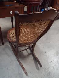 Antique Victorian Cane Seat Side Chair Hip Hugger