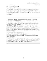 Executive Overview Template Perfect Summary Examples