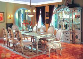 Formal Dining Room Chairs Tradition Long Table Design Minimalist Bench Seat Looking Decorating Ideas Rectangular Cream Fabric Motif Stacking