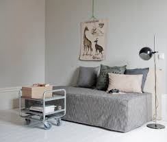 Sand Studio Day Sofa Slipcover by Bemz Daybed Cover In Light Grey Sybary Cushion Covers In Sand