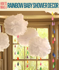 How To Make A DIY Hanging Tissue Paper Pom Backdrop For Baby Shower Decoration