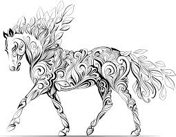 Horse Coloring Book Free Download Inspiration Web Design Pages For Adults