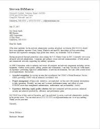 Military Cover Letter Sample