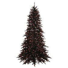 Vickerman 75 Black Fir Artificial Tree With 750 Orange Lights