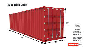 104 40 Foot Shipping Container Ft High Cube Cargo Worthy Hccw One