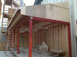 Free Standing Deck Bracing by Roof Over Freestanding Deck Project Doityourself Com Community