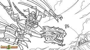 LEGO Ninjago Gold Dragon Attack Coloring Page