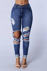womens jeans boyfriend denim high waisted mom skinny ripped