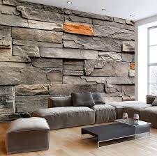 Photo Wallpaper Wall Murals Non Woven 3D Modern Art Optical Illusion Brick Stone Effect Decals