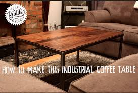 how to make an industrial wood and metal coffee table youtube