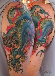 Harley Davidson Dragon Tattoo By Marvin Silva TattooNOW