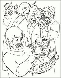 Jesus Feeds Printing Sheets Christmas Coloring Pages 5000