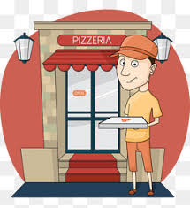 Hand Painted Cartoon Pizza Shop Attendant Figures