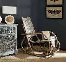 100 Rocking Chair With Pouf SEA8035A S Furniture By Safavieh
