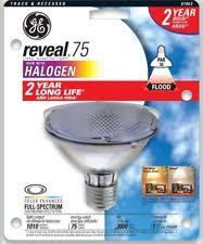 ge reveal 75 watt par30 neck halogen flood light bulb
