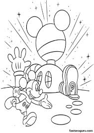 Elegant Coloring Pages Mickey Mouse Clubhouse 51 For Your Site With