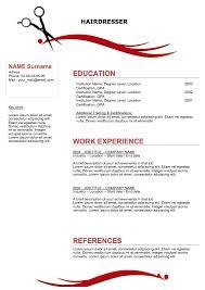 Resume Templates Hair Stylist ResumeTemplates