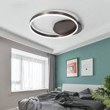 ø40cm led deckenleuchte wohnzimmer leuchten dimmbar braun