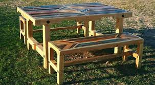 Pallet Patio Table Plans by Upcycled Wooden Pallet Patio Dinning Tables Recycled Things