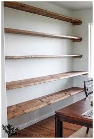 Cool Diy Industrial Rustic Bookshelf Full Image For Shelf Brackets Dining Room Open Shelving Wall Shelves