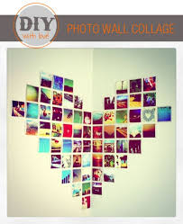 Photo Heart Collage Cute Idea For A Bedroom Wall