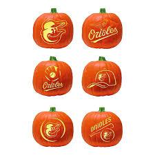 Pac Man Stencil Pumpkin Carving by Amazon Com Mlb Baltimore Orioles Pumpkin Carving Kit 6 Stencils