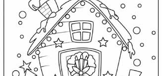 Gingerbread House Coloring Pages To Print Free