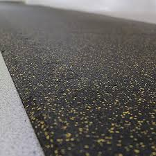 Black Yellow Fleck Rubber Flooring 12mm Thickness