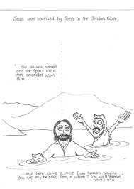 Jesus Baptism Bible Coloring Pages Pictures To Pin Baptismal Font
