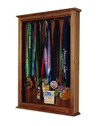 Marathon Medal Display Walnut