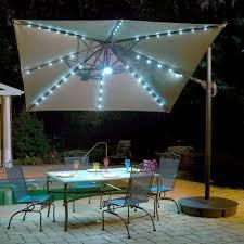 Tilt Patio Umbrella With Lights by Hampton Bay 9 Ft Steel Crank And Tilt Patio Umbrella In Cafe