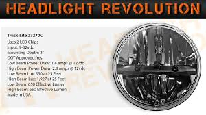 100 Truck Lite 27270C Demo And Review 7 Inch Round LED Headlights