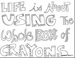 Fabulous Quote Coloring Pages