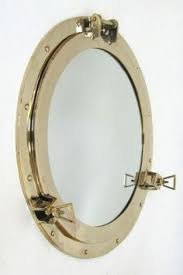 aluminum chrome finish 15 ship s porthole mirror nautical decor
