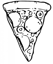 Pizza Clipart Black And White Clipartion