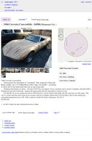100 Craigslist Washington Dc Cars And Trucks By Owner At 4500 Would You Let This 1968 Chevy Corvette Roller Roll Into