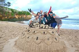 Coogee Beach Fun Team Building Sand Sculpting Activities During An Amazing Race Event