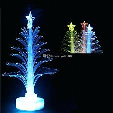Optic Fiber Christmas Trees Luminous Optical Tree Led 7 Colour Star Festival Decoration From Small Walmart