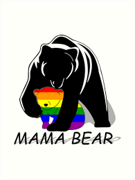 Gay Pride Mama Bear By Lena Adams