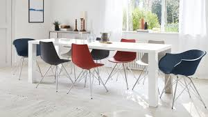 100 White Gloss Extending Dining Table And Chairs Fern Stylo Extendable And Danetti