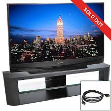 mitsubishi 65 1080p 3d ready dlp hdtv w hdmi cable stand 2yr