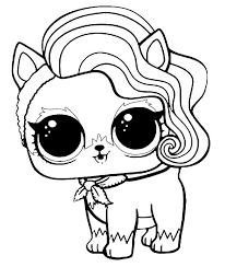 LOL Surprise Pets Coloring Pages Sur Fur