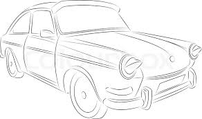 Stock Vector Of Vintage Car Drawing