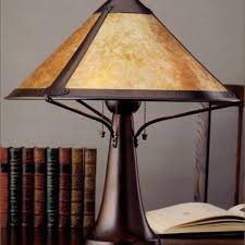 Mica Lamp Shade Company by 014 Large Trumpet Table Lamp Mica Lamp Company Coppersmith