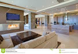wohnzimmer mit offener küche stockbild bild zählwerk